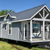 The Exterior of a Lakeview P-563SLFP model by Platinum Cottages and RRC Athens. This model is on display in Athens TX.