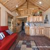 The Timberline model by Platinum Cottages with wood ceiling and accents.